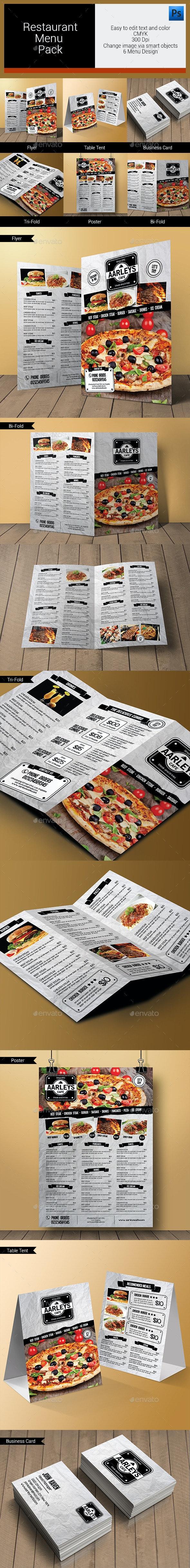 Restaurant Menu Pack - Food Menus Print Templates