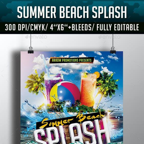 Summer Beach Splash Flyer Template