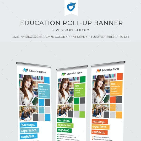 Education Roll-up Banner