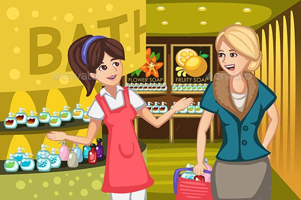 Women in a Soap Store - Retail Commercial / Shopping