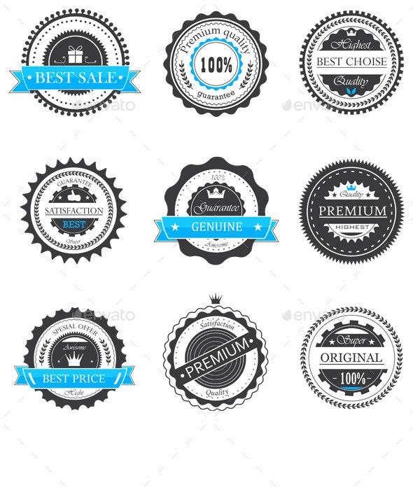 Guarantee Badges Vector - Decorative Symbols Decorative