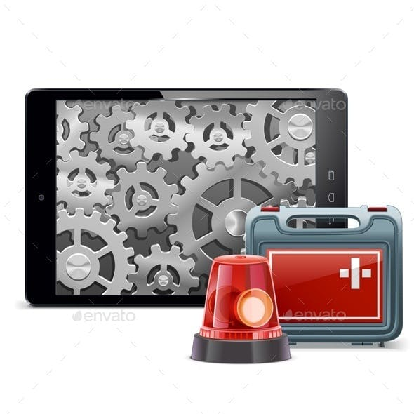 Tablet PC with Emergency Kit