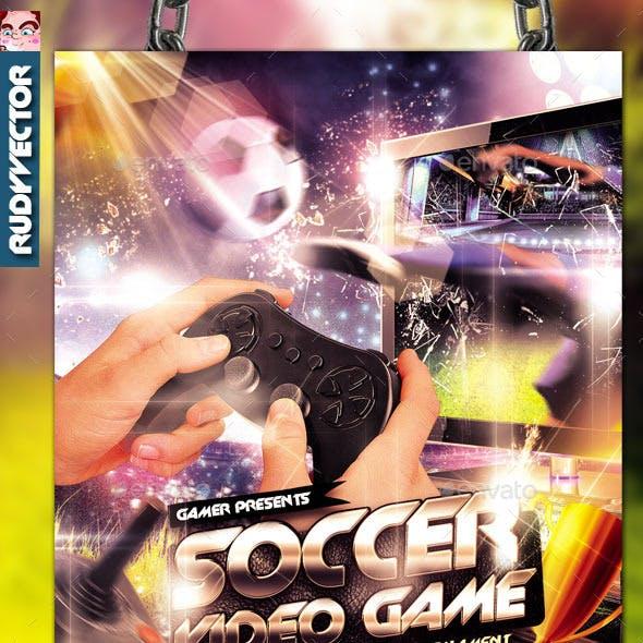 Soccer Video Game Tournament Flyer Design
