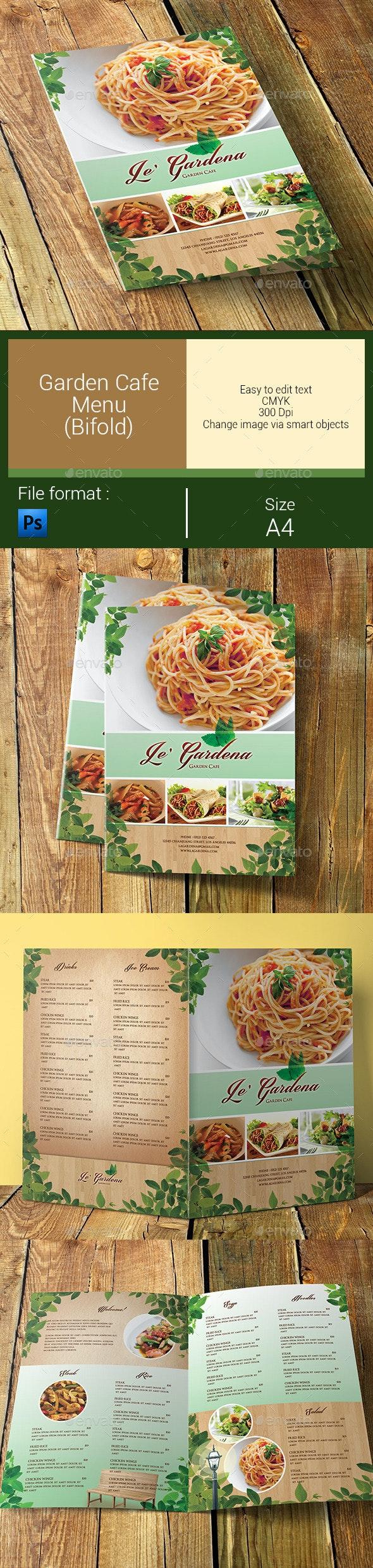 Garden Cafe Menu Bifold - Food Menus Print Templates