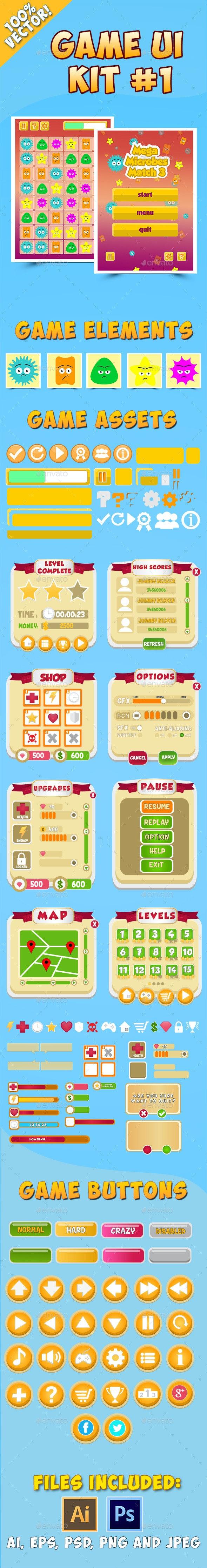 Game UI Kit #1 by globeweb   GraphicRiver