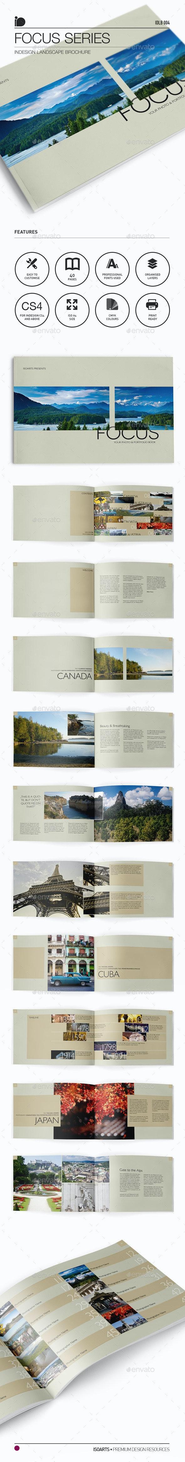 Landscape Brochure • Focus Series - Photo Albums Print Templates