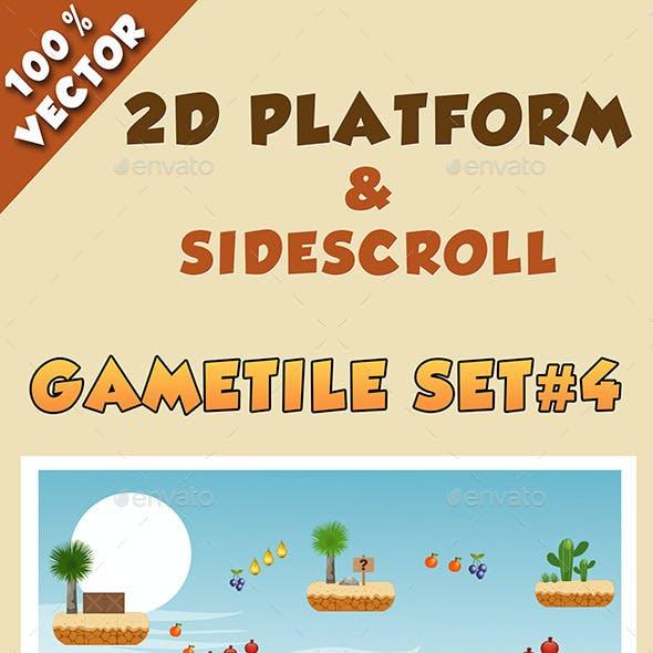 2D Platform & Sidescroll Tileset #4