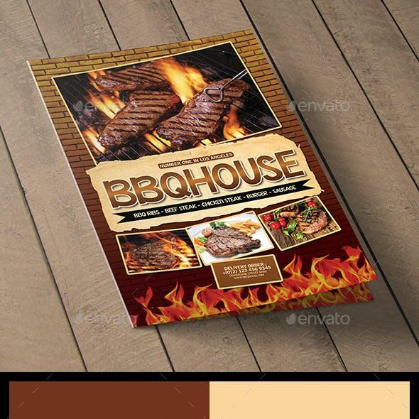 BBQ / Steak Menu Bifold