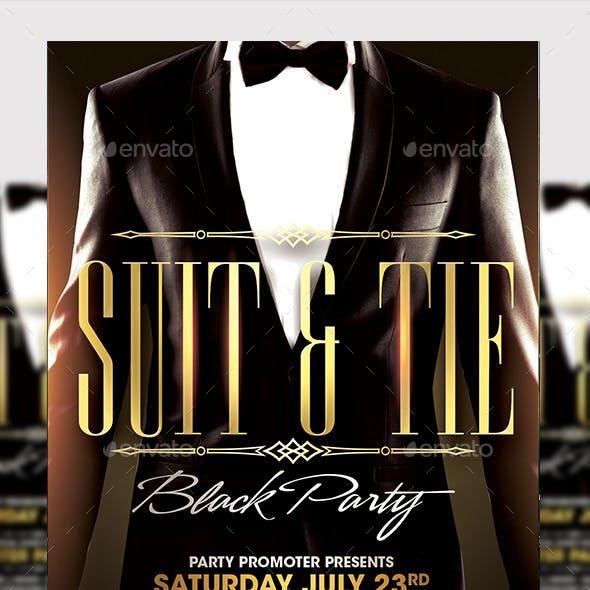 Suit & Tie Party Template