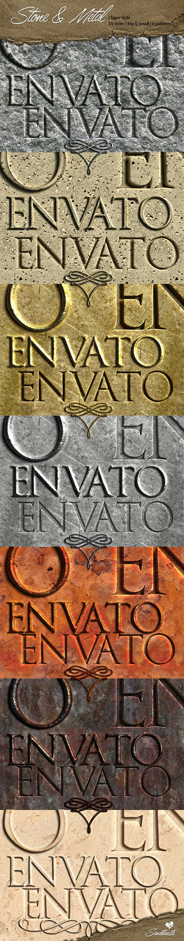 Stone & Metal Styles - Text Effects Styles