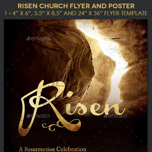 Risen Church Flyer Poster Template