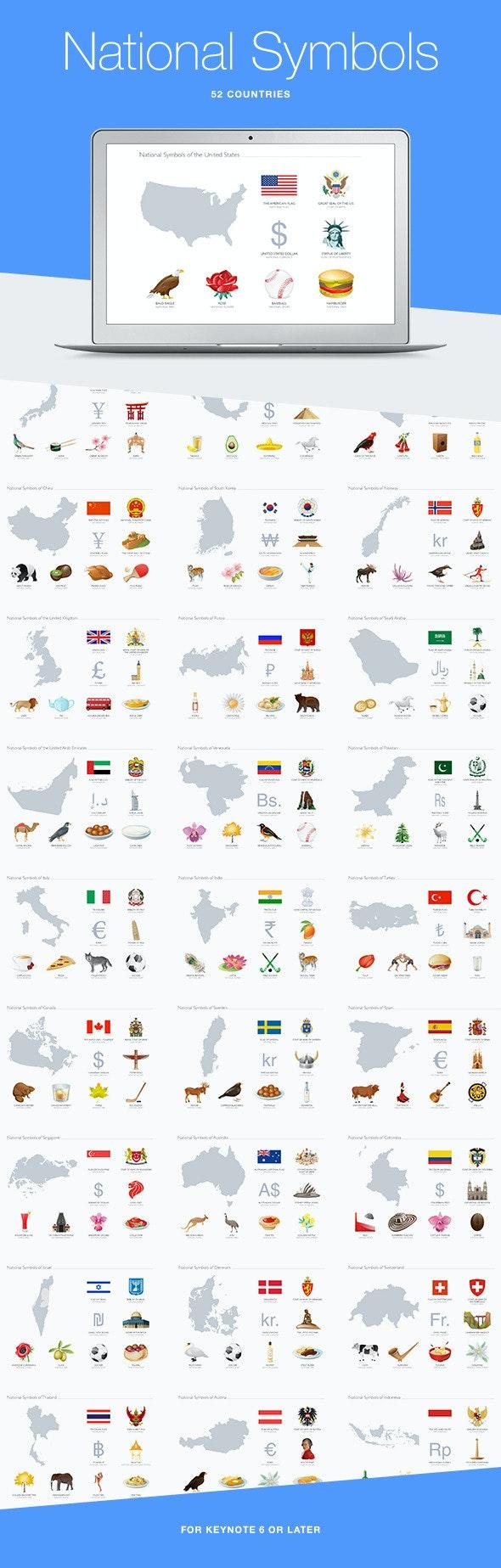 National Symbols for Keynote - Abstract Keynote Templates