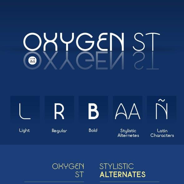 Oxygen st typeface