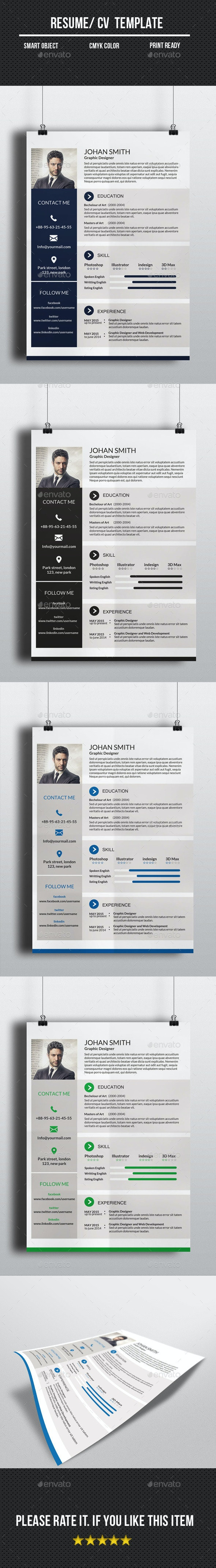 One Page Resume/CV - Resumes Stationery
