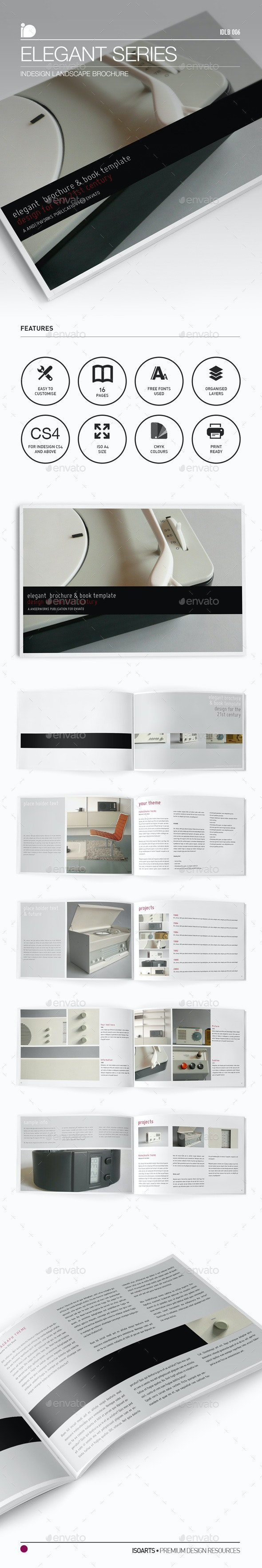 Landscape Brochure • Elegant Series - Brochures Print Templates