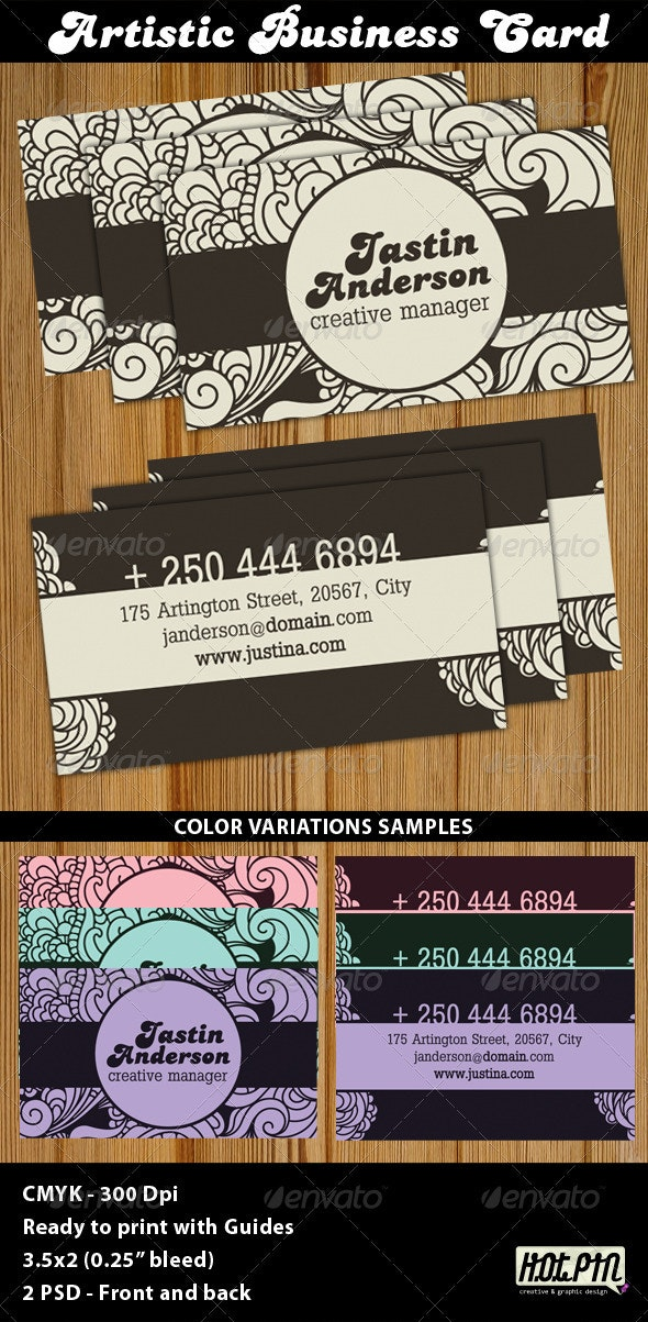Artistic Business Card Template - Creative Business Cards