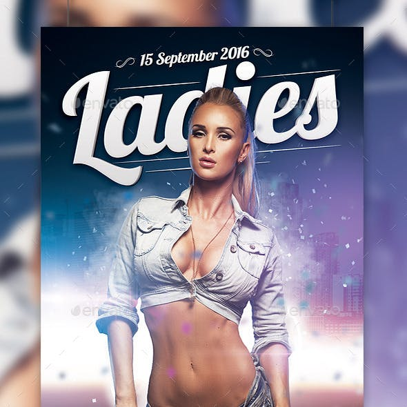 Ladies Party Flyer Template