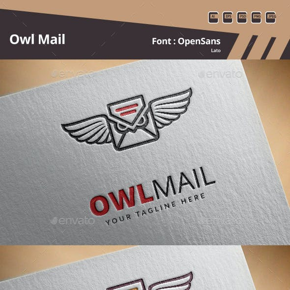 Owl Mail Logo Template