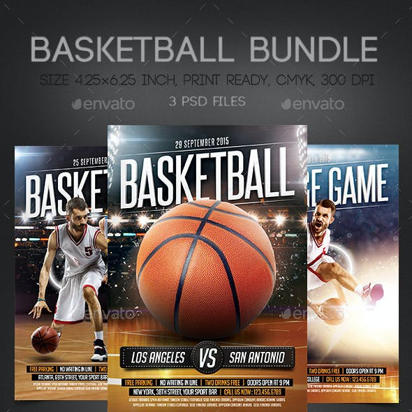 BasketBall Flyers Bundle