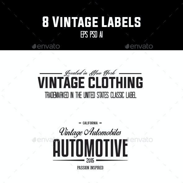 8 Vintage Labels