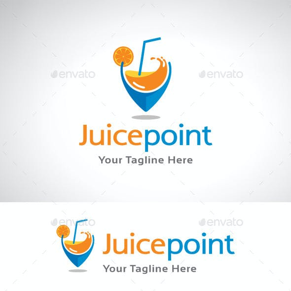 Juice Point Location Logo Template