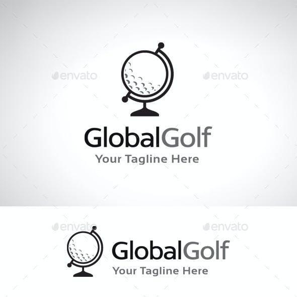 Global Golf Logo Template