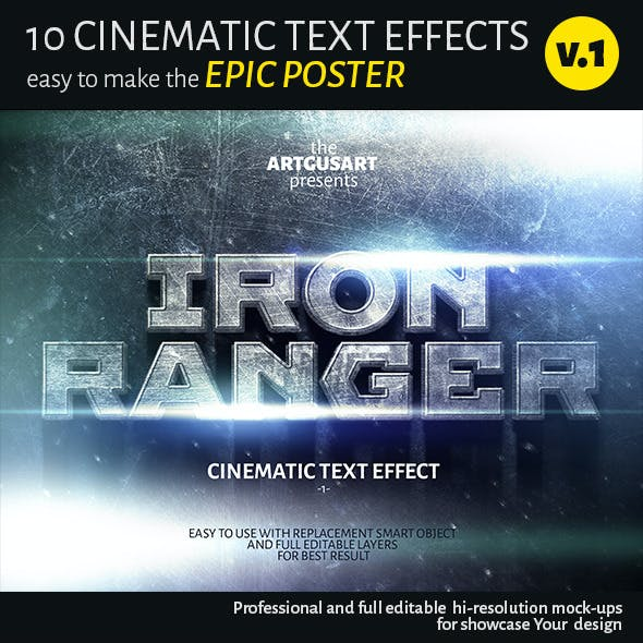 10 Cinematic Text Effects v.1
