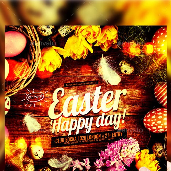 Easter Happy Day Flyer