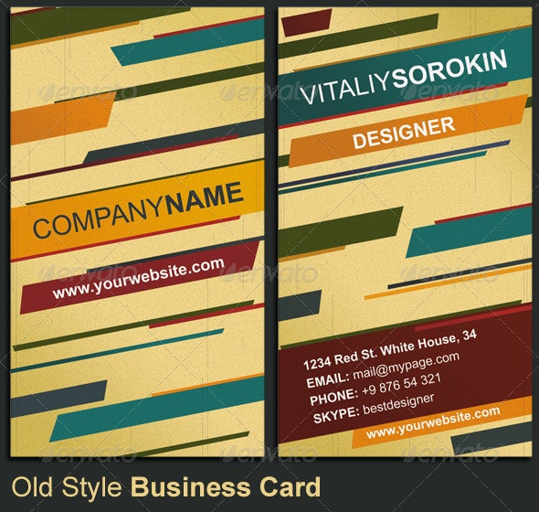 Old Style Business Card - Creative Business Cards