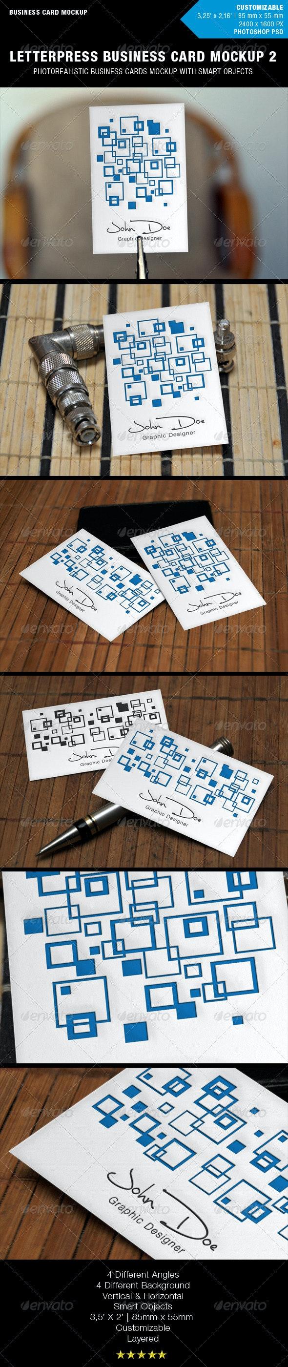 Letterpress Business Card Mockup 2 - Business Cards Print