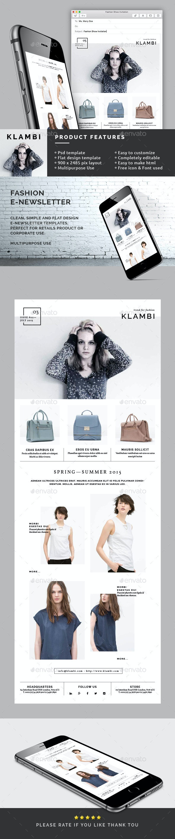 Fashion E-Newsletter - E-newsletters Web Elements