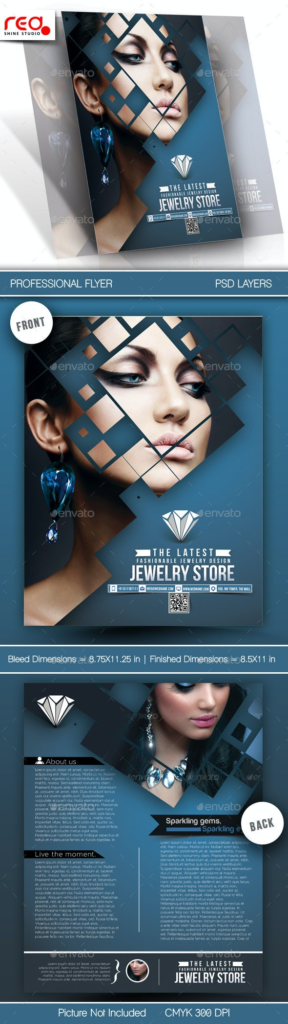 Jewelry Store Flyer Template - Commerce Flyers