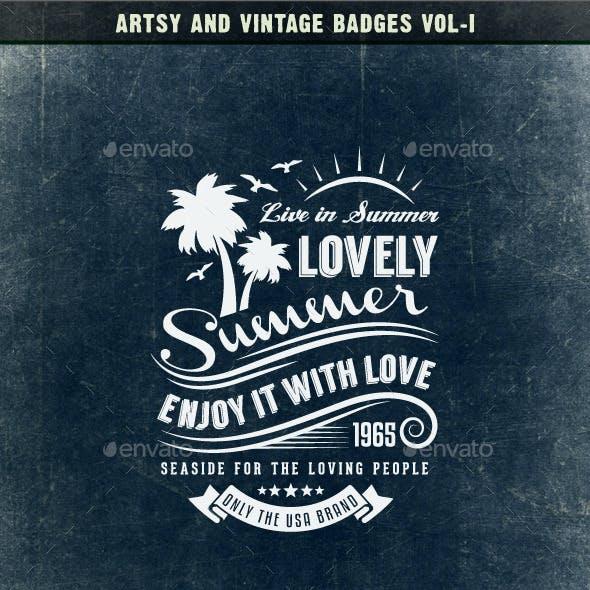 Artsy and Vintage Badges Vol-I