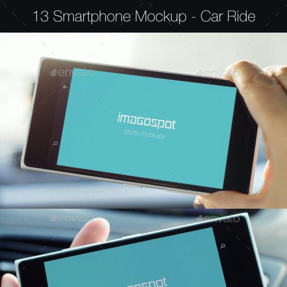 Business Smartphone Lumia Mockups - Car Ride