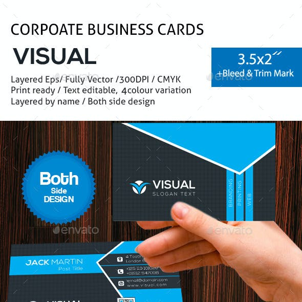 Visuial Corporate Business Cards