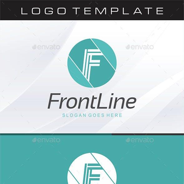 Front Line - Letter F Logo