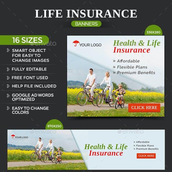 Health & Life Insurance Banners