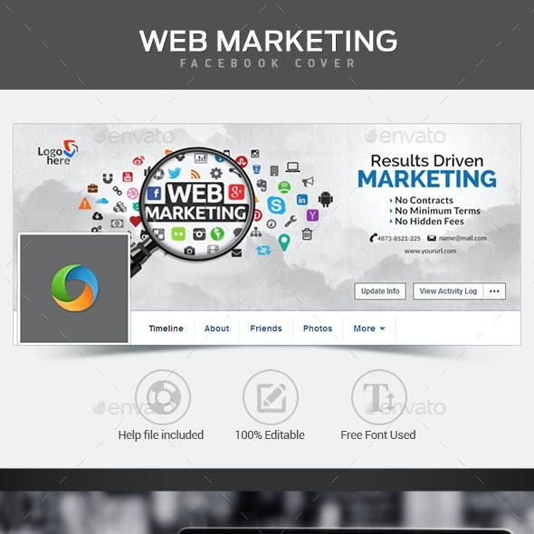 Web Marketing Facebook Cover