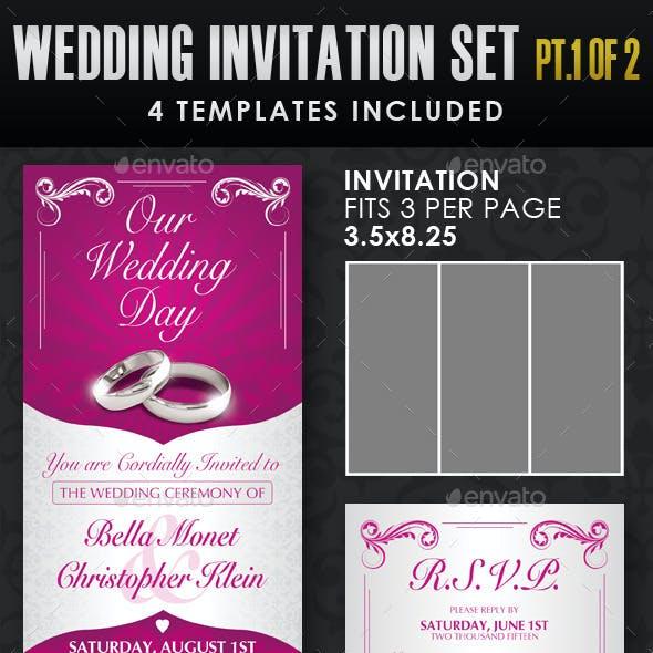 Wedding Invitation Template Set - Vol.1a