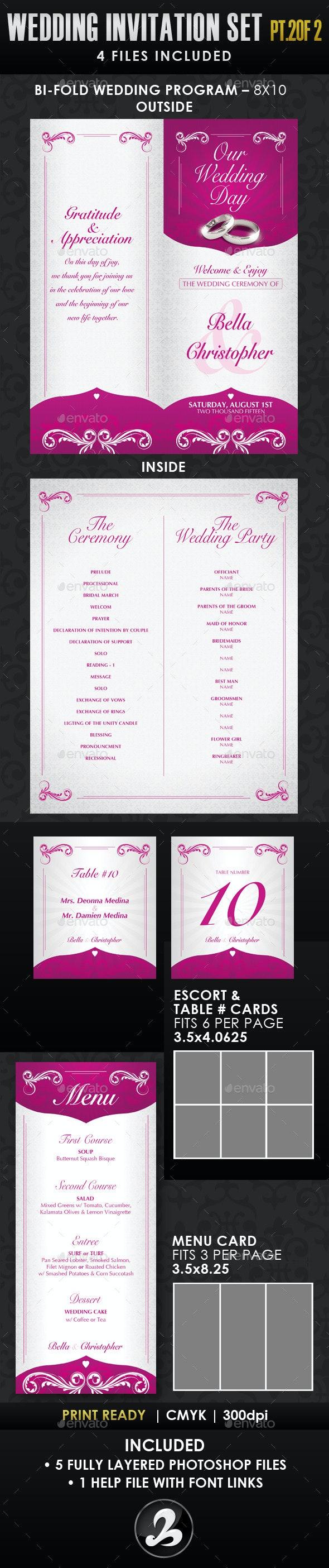 Wedding Invitation Template Set - Vol.1b - Weddings Cards & Invites