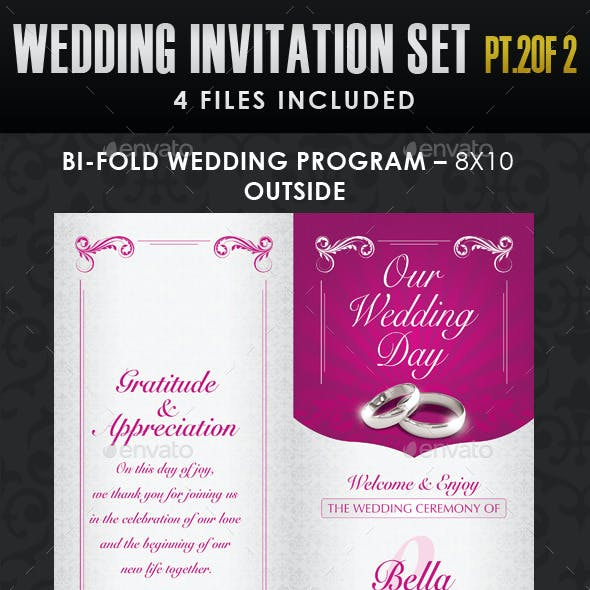 Wedding Invitation Template Set - Vol.1b