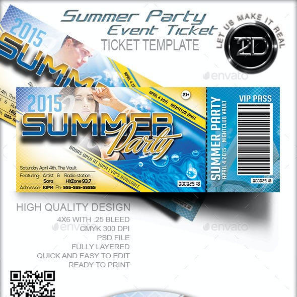 Summer Party Event Ticket