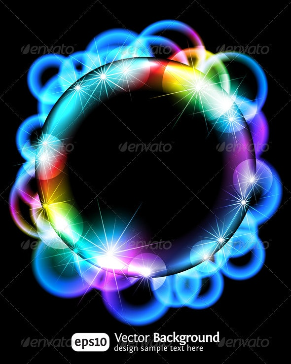 Neon light gragient effect background - Backgrounds Decorative