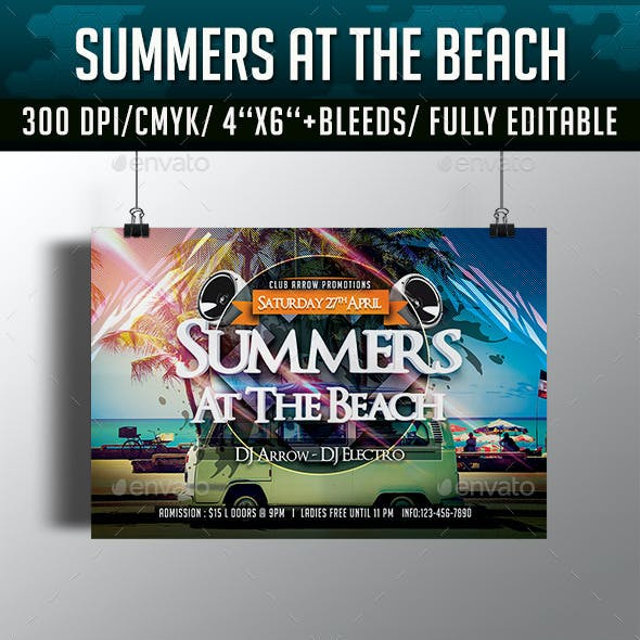 Summers at the Beach Flyer Template