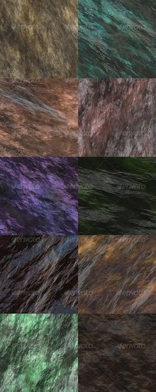 Wet Stone Seamless Textures - Stone Textures