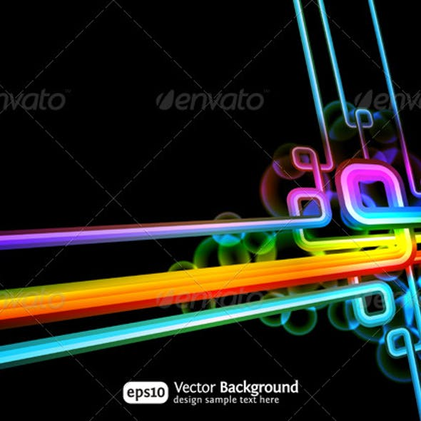 Retro technology abstract vector background