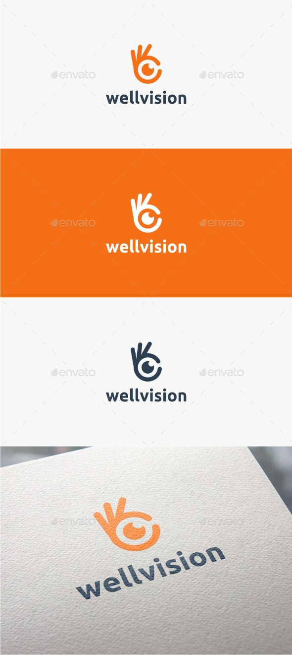 Well Vision - Logo Template - Symbols Logo Templates