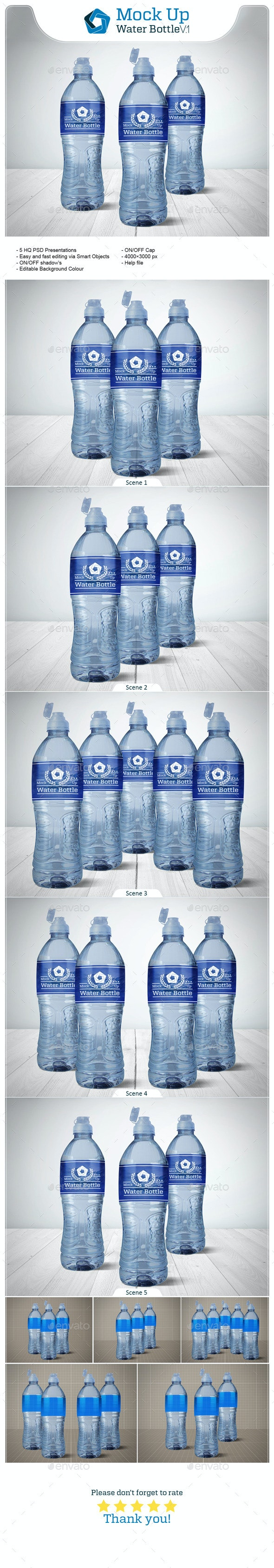 Water Bottle V.1 - Food and Drink Packaging