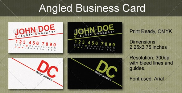 Angled Business Card - Creative Business Cards