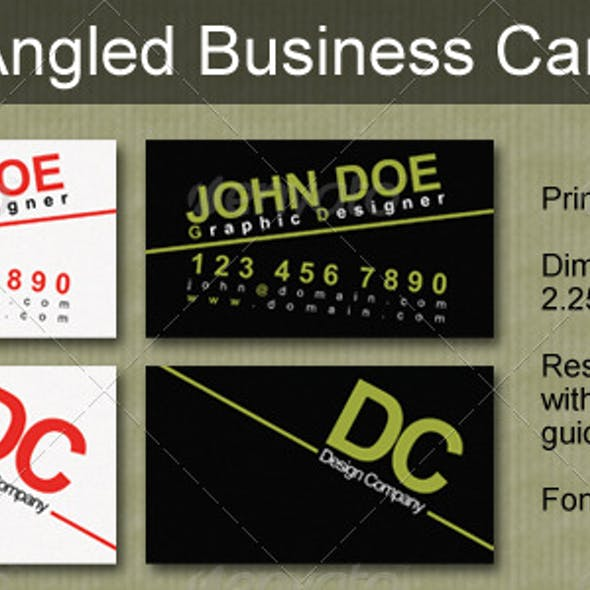 Angled Business Card